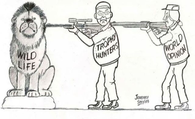Trophy Hunting Illustration